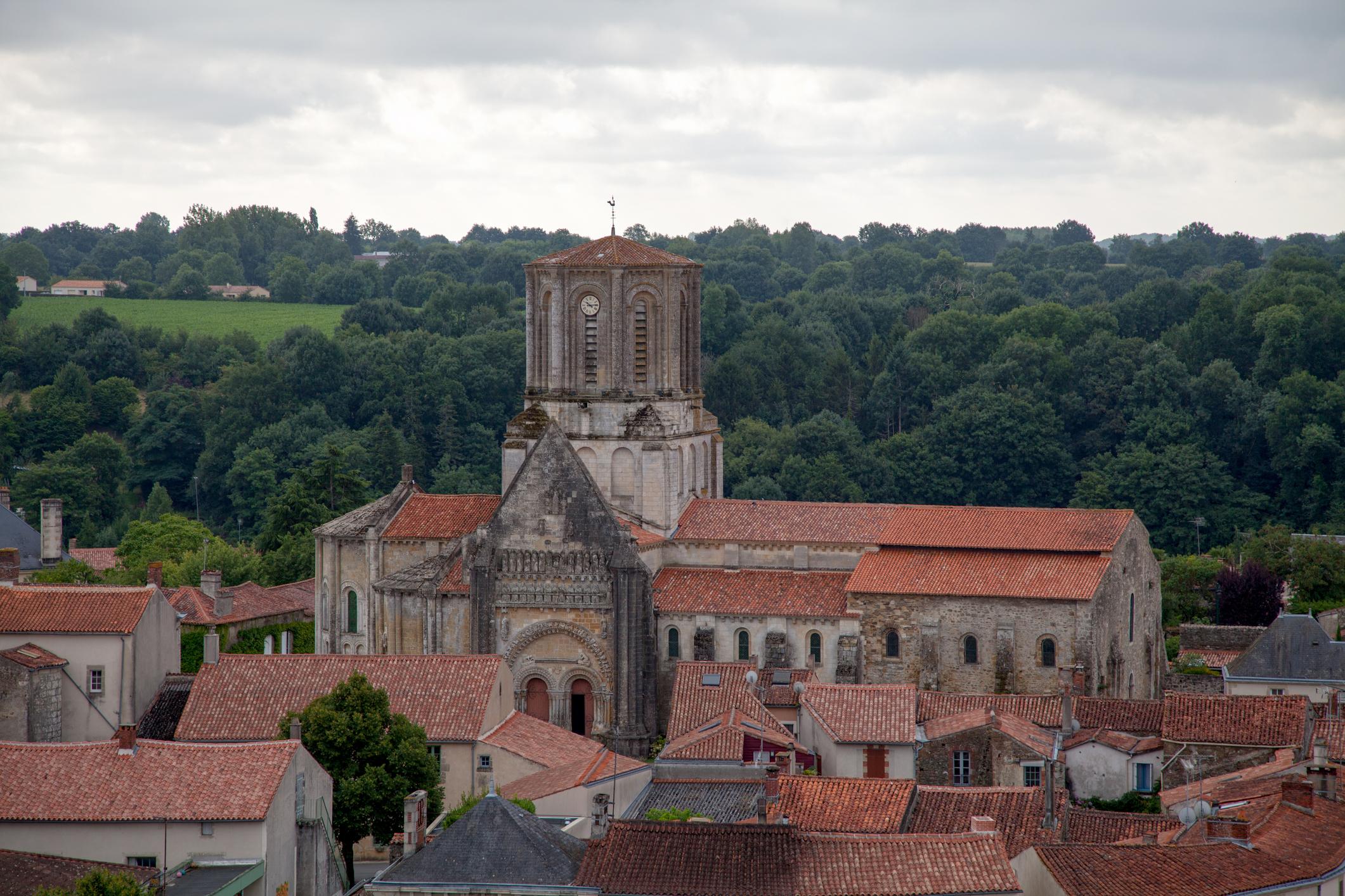 The church of Notre-Dame-de-l'Assomption de Vouvant is a Catholic church located in Vouvant, in the department of Vendée, in Pays de la Loire region.