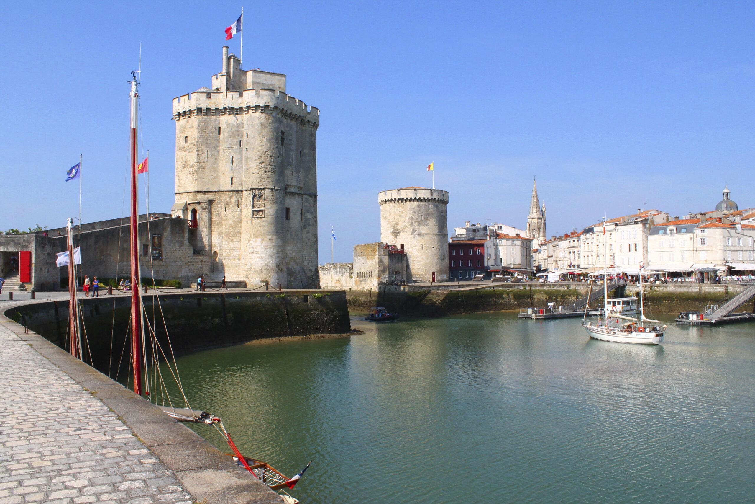 Old port of La Rochelle, France
